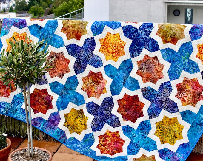 Quit Pattern - Moroccan Tiles - size: 60 inches x 74 inches - PDF