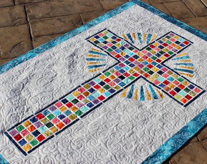 "Easter Cross  - PDF Pattern - Quilt Pattern - size: 41"" x 59"""