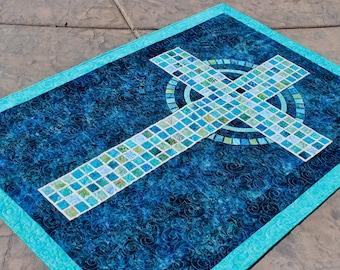 "Mosaic Cross  - PDF Pattern - Quilt Pattern - size: 41"" x 59"""
