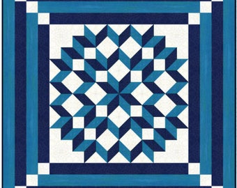 Quilt Pattern - Double Carpenters Star - Multiple sizes , PRINTED
