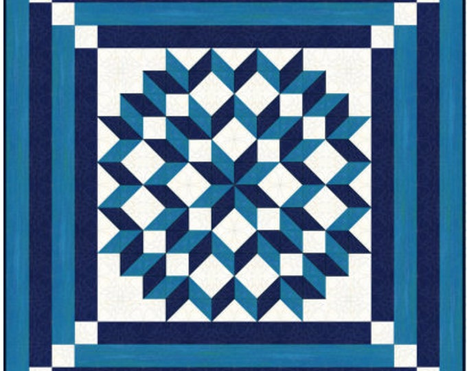 Quilt Pattern - Double Carpenters Star - Multiple sizes , PDF Download