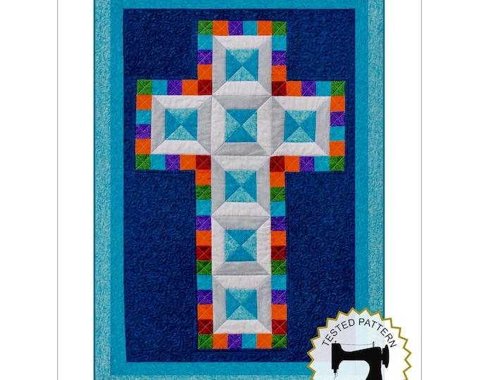 Cross Quilt Pattern - Jewel Cross - Religious quilt - Christening quilt - Multiple Sizes