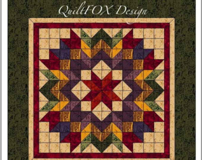 "Quilt Pattern - Harvest Wreath - Wall hanging - 45""x45"""