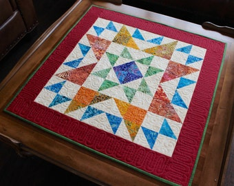 "Quilt Pattern - Table Topper - Mini Quilt - Ohio Star - size: 30"" x 30"""