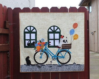 "Come Ride With Me! - quilt pattern - size: 42"" x 50"" - PDF download"