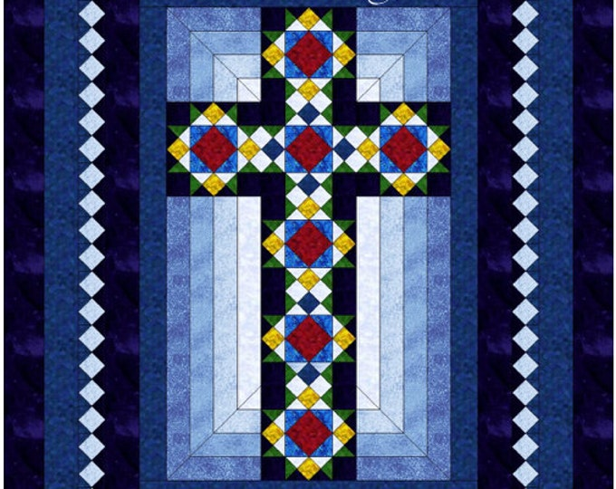 Cross Quilt - Cross in Window - Queen size