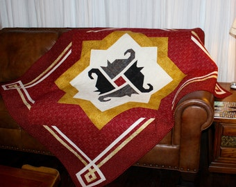 Cat quilt pattern - Cats Around the Block - lap size quilt: 61' x 72'