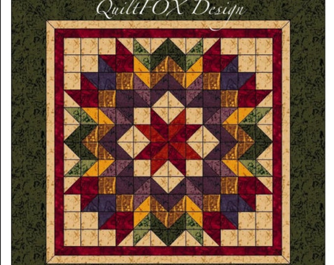 "Harvest Wreath quilt pattern - King size: 108""x108"""
