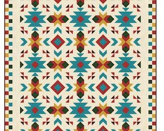 "Southwest Quilt Pattern - Southwest quilt - Nativ American quilt - Full size: 80"" x 96"" , PDF Download"