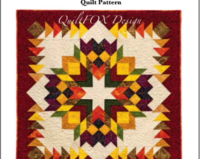 Quilt Pattern - HarvestWreath - size 48 1/2 in. x 48 1/2 in.