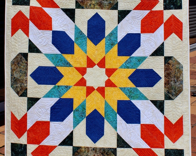 Moroccan Mosaic - size: 51 inc. x 71 inc. - quilt pattern