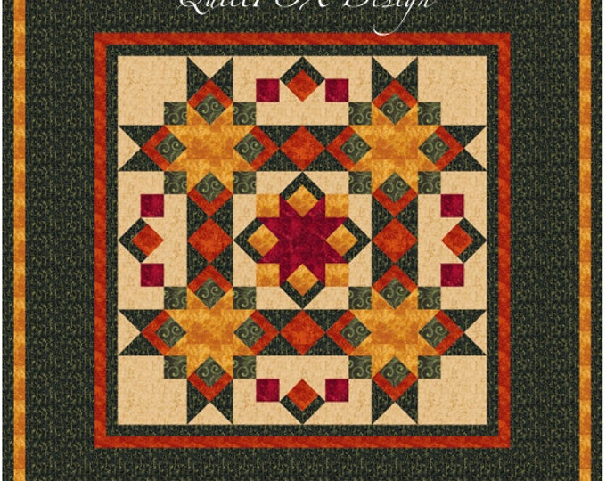 "Christmas Quilt Pattern - Christmas Table Top - 52""x52"""
