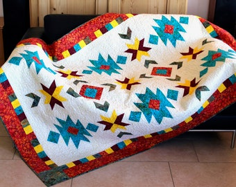 Southwest quilt pattern  - throw size: 52 in. x 76 in.