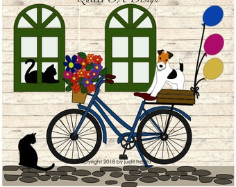 """Come Ride With Me! - quilt pattern - size: 42"""" x 50"""" - PDF download"""