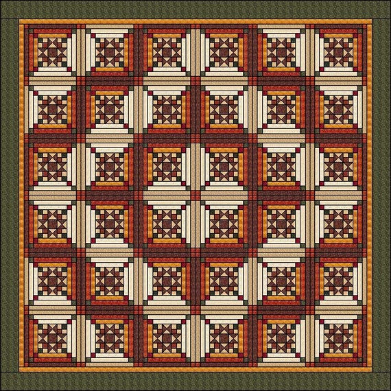 How to make a log cabin quilt block the easy way in 3 sizes.