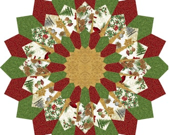 Christmas Table Topper - diameter 40 in and 50 in - Placemat 18 1/2 in - PDF Pattern