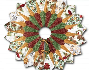 Christmas Tree Skirt - diameter 40 - PDF Pattern