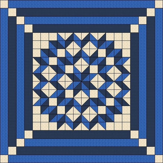 Quilt Pattern Double Carpenters Star Multiple Sizes Pdf Etsy