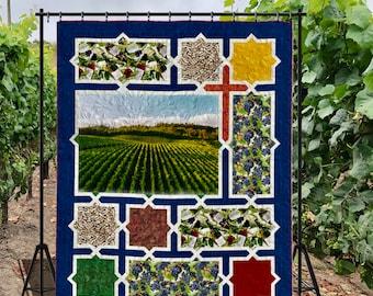 Quilt Pattern - Vineyard Labyrinth, size: 68 in. x 85 in. - PDF pattern
