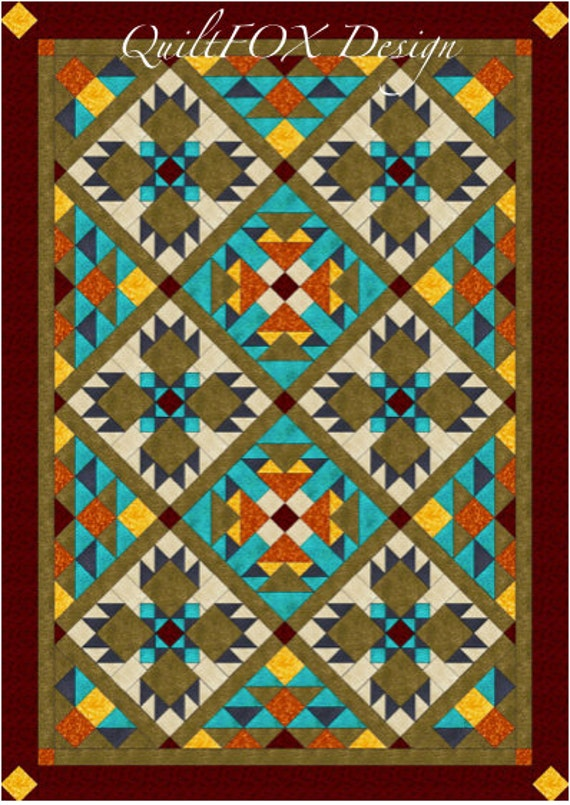 Southwest Quilt Pattern Bear Paw Quilt Twinfull Size Etsy