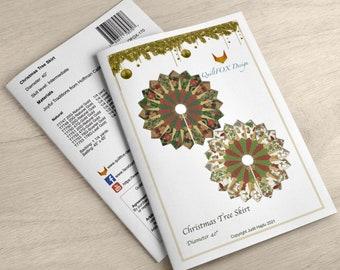 Christmas Tree Skirt - diameter 40 - PRINTED Pattern