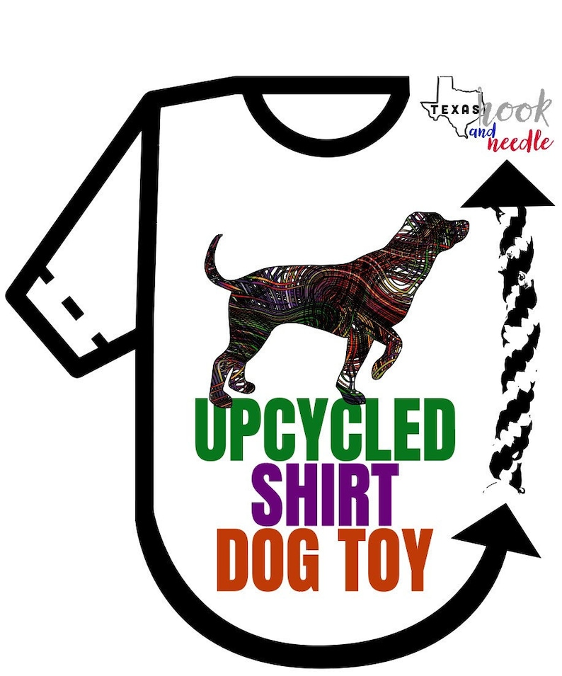 Add on to t-shirt quilt Dog toys t-shirt rope braided dog image 0