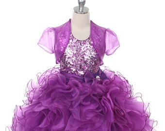 Girls Sequin Top Ruffle Pageant Dress 2a5c50e2a19c