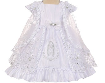 e87b931f6f7 Virgin Mary Embroidered Baptism Dress christening dress baby