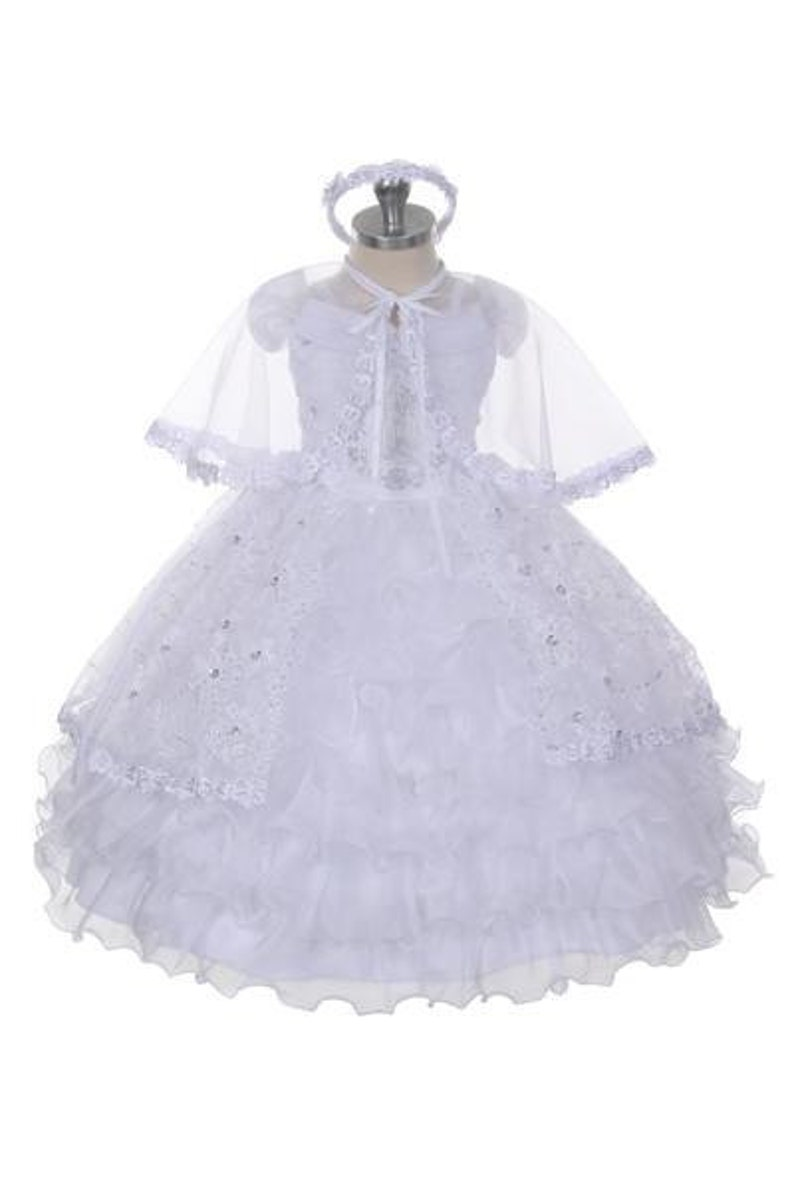 7f8b7a97fc Virgin Mary Embroidered Baptism Dress christening dress baby