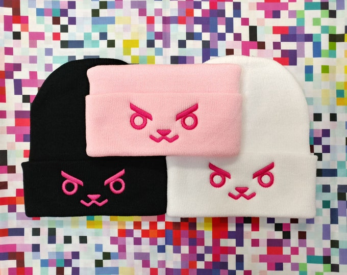 Featured listing image: Overwatch D.Va Bunny Face Beanie