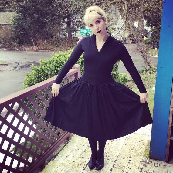 Black 50's cocktail dress
