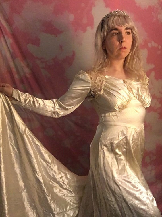 Torn Victorian Wedding Gown