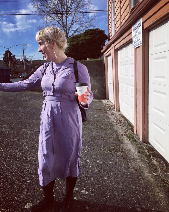 Lavender Suit Dress