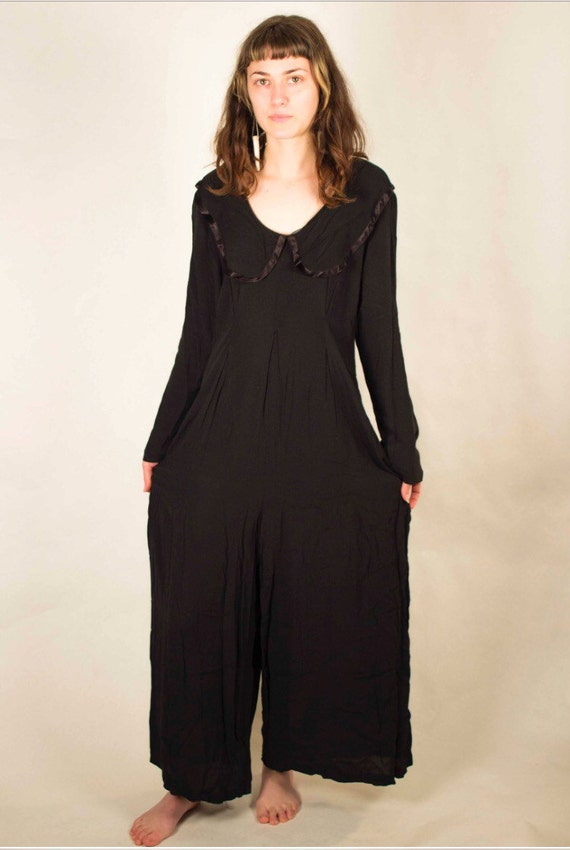 Black 80's Jumpsuit