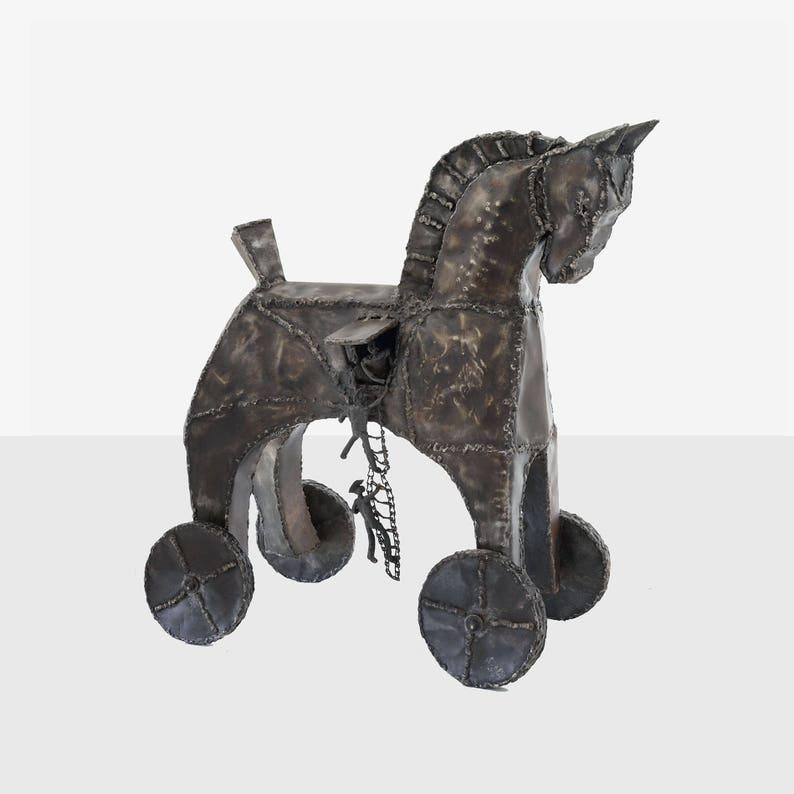 Rzeźba Konia Trojańskiego Rzeźba Wzgórza Dorrance Rzeźba Etsy