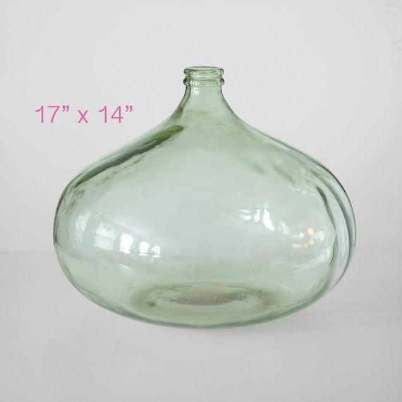 Midcentury Giant Glass Vase Giant Hand Blown Glass Bottle Etsy