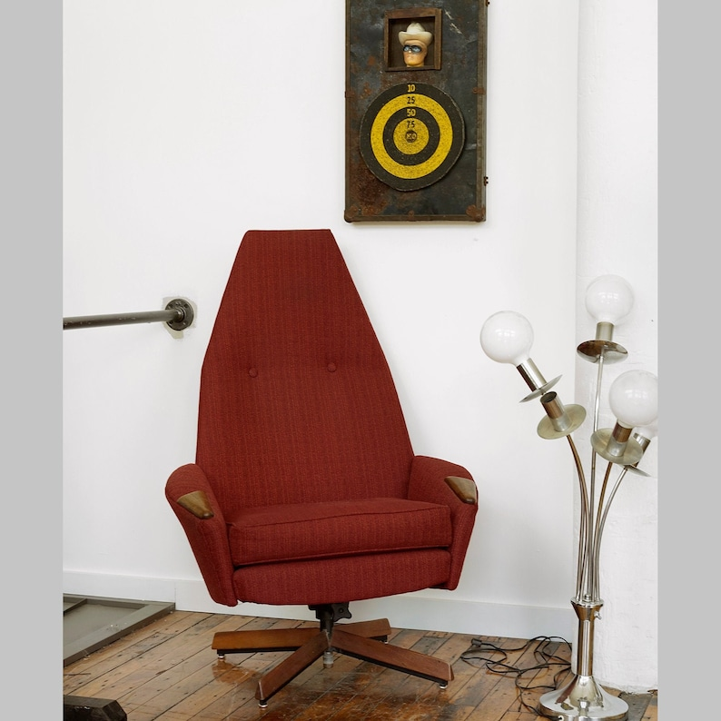 Stupendous Adrian Pearsall High Back Swivel Lounge Chair Pearsall Lounge Chair 1965 Lounge Chair Mcm Lounge Chair Midcentury Modern Chair Camellatalisay Diy Chair Ideas Camellatalisaycom