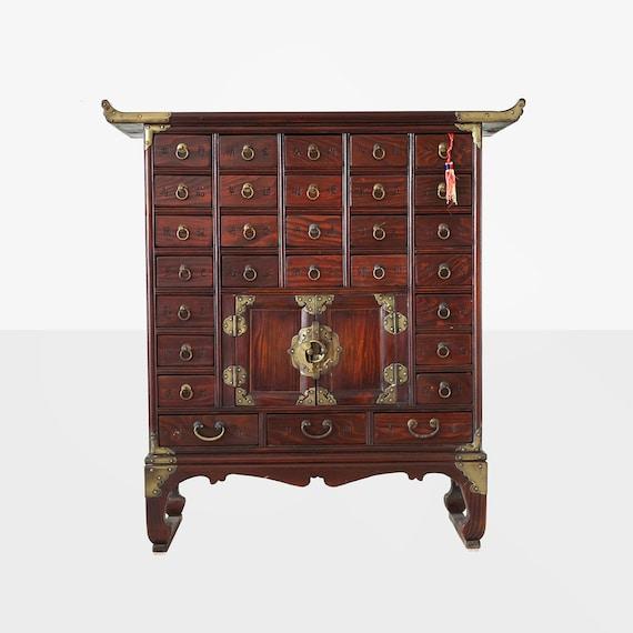 image 0 - Vintage Korean Apothecary Cabinet Korean Medicine Chest Etsy