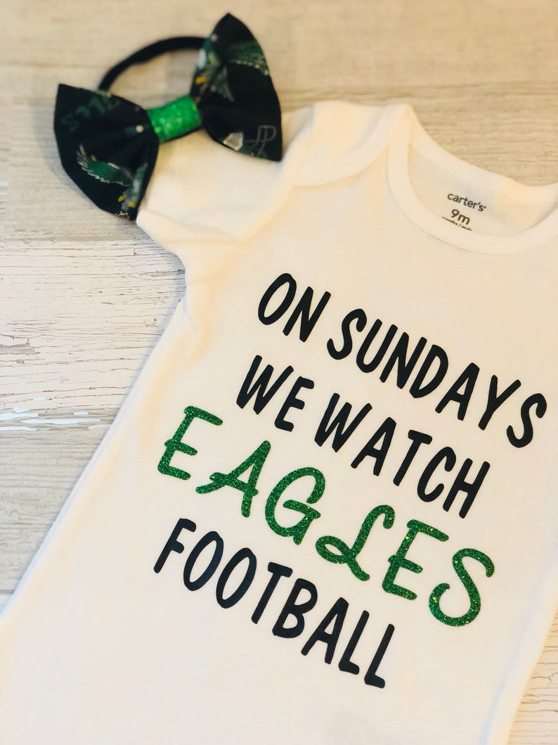 57bbde074a6 Philadelphia Eagles Onesie & Headband Set Kelly Green | Etsy