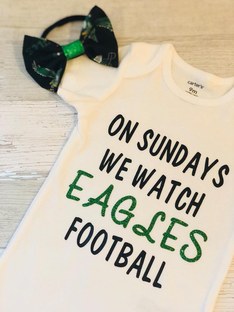 db6bb861475f Philadelphia Eagles Onesie & Headband Set Kelly Green | Etsy
