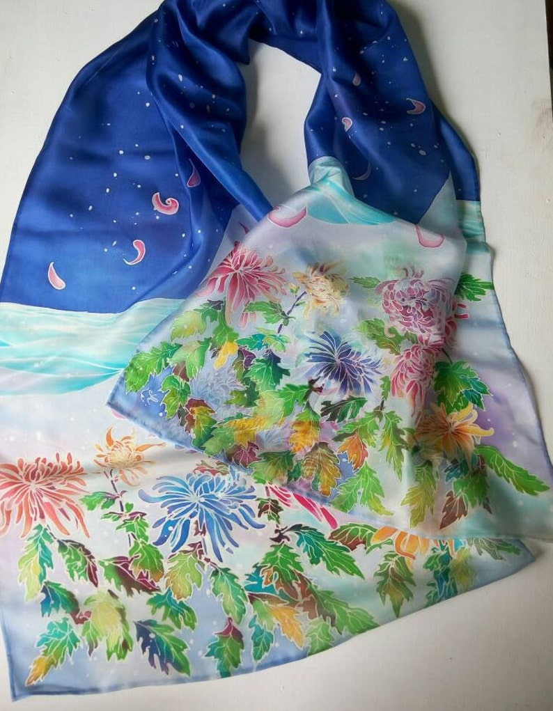 Women/'s Tulip Print Scarf Floral Summer Spring Scarves Friend Sister Mother Gift