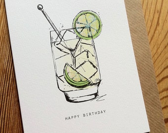 G&T Birthday Card