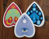 Planchette Stickers, Sticker, Lunar Moth, Crystals, Seeing Eye