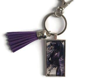 Horse Key Chain/Horse Lover Key Chain/Gifts for Horse Lovers/Horse Gifts/Horse Trainer Gifts/Planner Charm/Purse Charm/Zipper Pull