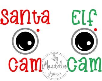 Santa Cam Svg Etsy