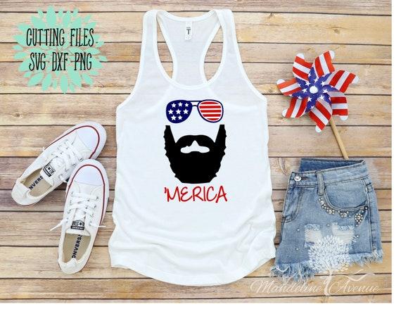 Merica Beard Svg Patriotic Design Cricut Svg File Etsy
