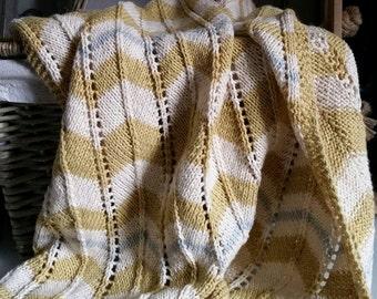 fb9bdabf024c Baby Blanket Knitting Pattern PDF Cellular Pram Blanket
