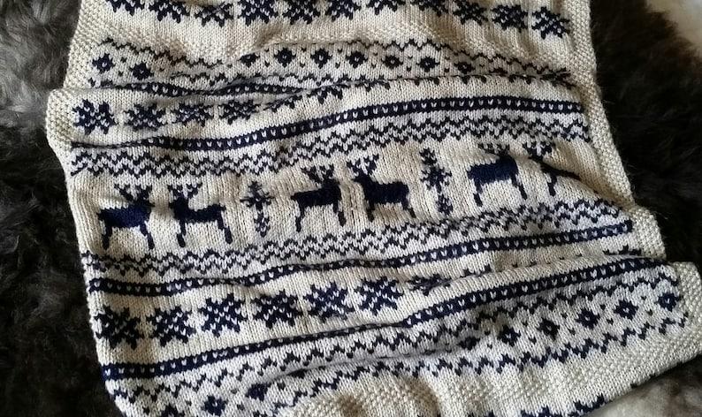 0322a38c2 Nordic Scandi Baby Pram Set Knitting Pattern PDF Fairisle