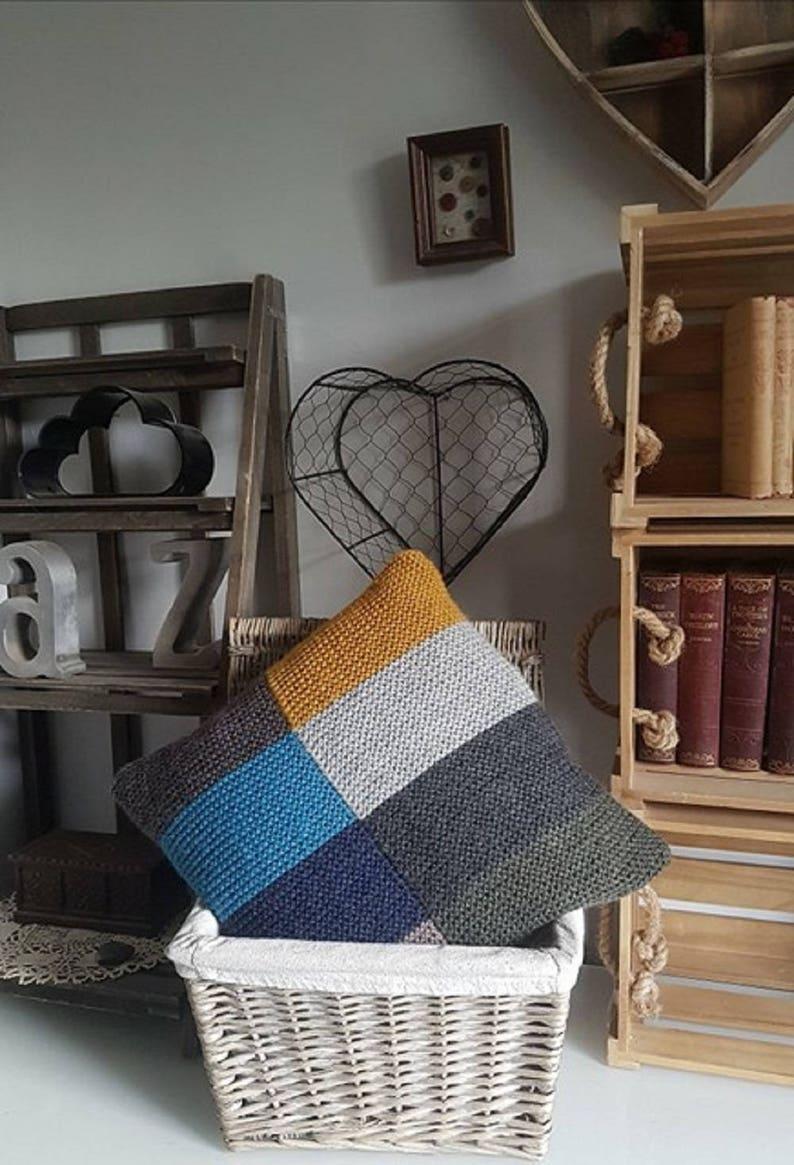 adb0369da435 Improvers PDF Knitting Pattern Garter Stitch Cushion