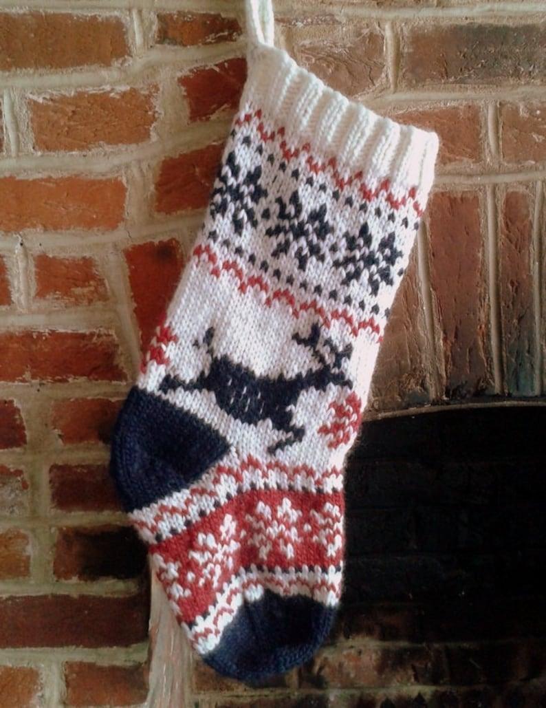 0355115e0 Nordic Scandi Christmas Stocking Knitting Pattern PDF